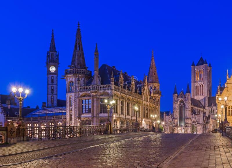 绅士都市风景-比利时 免版税库存照片