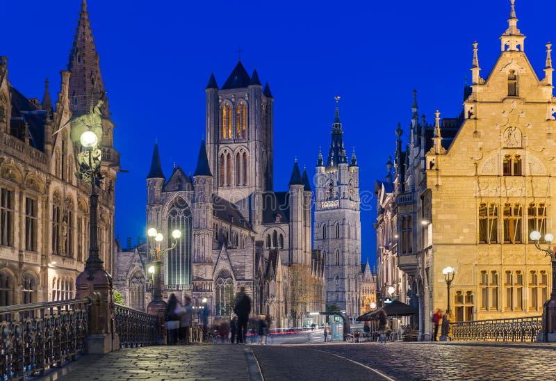 绅士都市风景-比利时 库存图片