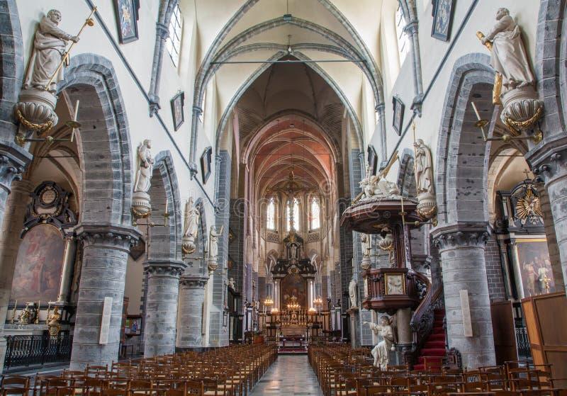 绅士-圣徒雅各布s哥特式教会主要教堂中殿  库存图片