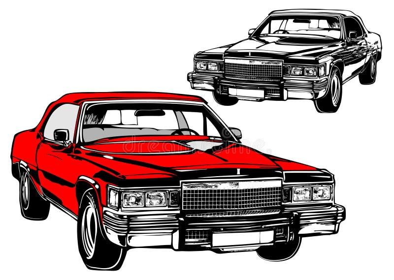 壮观古老的汽车 向量例证