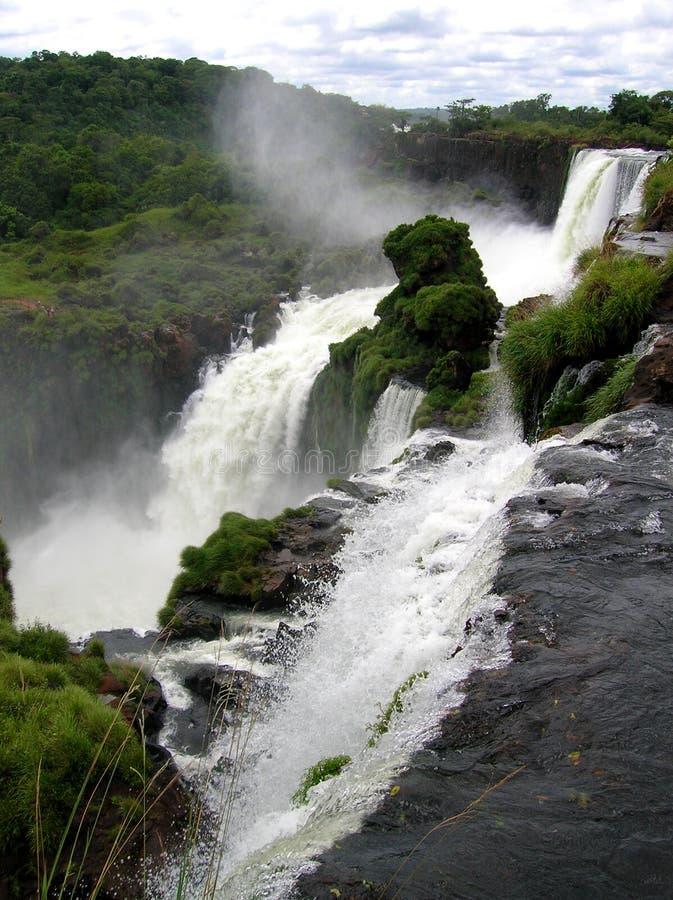壮观的伊瓜苏瀑布,一世界七大奇迹 库存图片