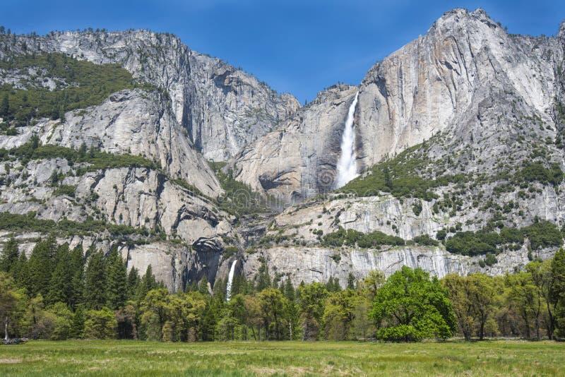 壮观的优胜美地fallls,优胜美地nat公园,加利福尼亚,美国 免版税库存图片