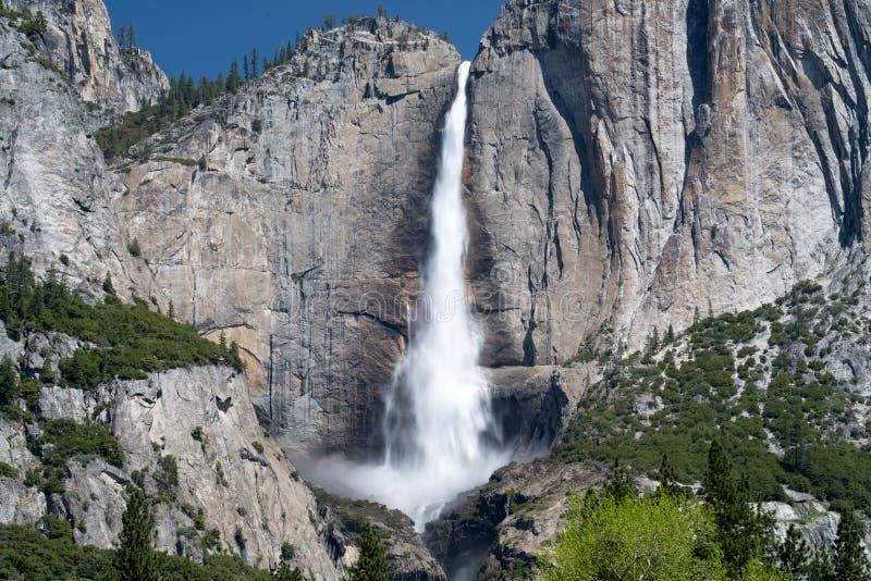 壮观的优胜美地fallls,优胜美地nat公园,加利福尼亚,美国 库存照片