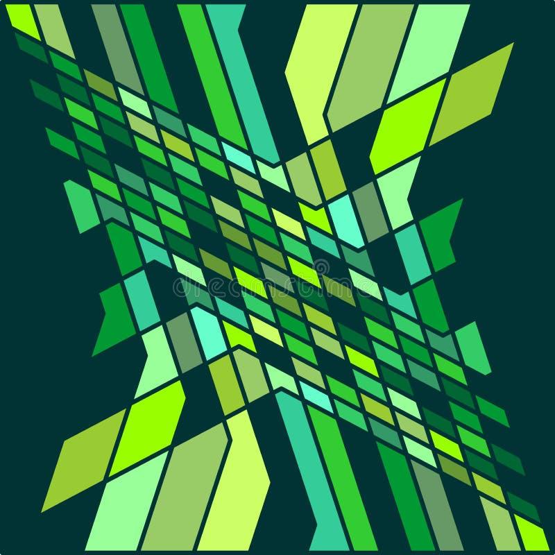 壮观的抽象样式淡色绿色图表形状纹理背景传染媒介例证 向量例证