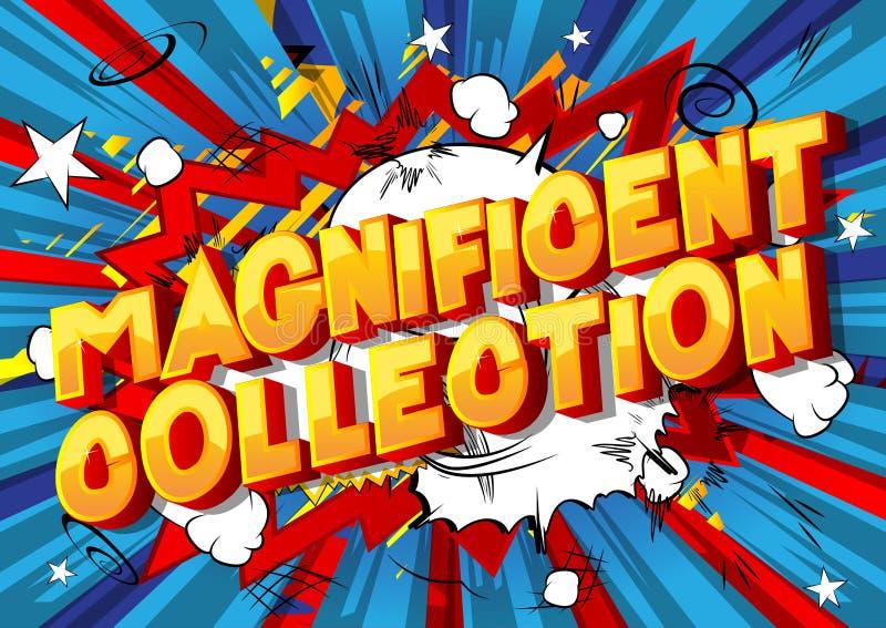 壮观的收藏-漫画在抽象背景的样式词组 向量例证