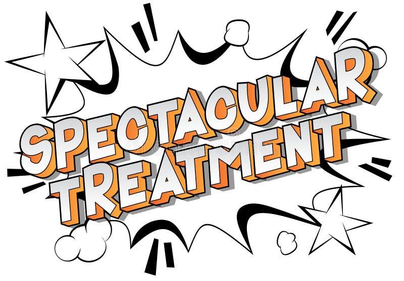 壮观的治疗-漫画样式词 向量例证