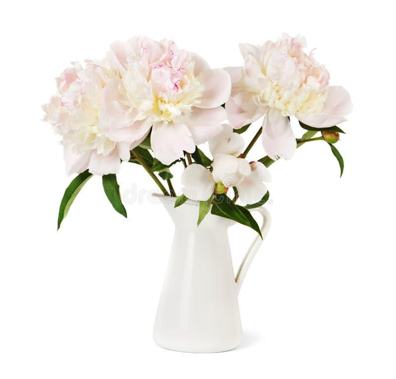 壮观的牡丹花束  图库摄影