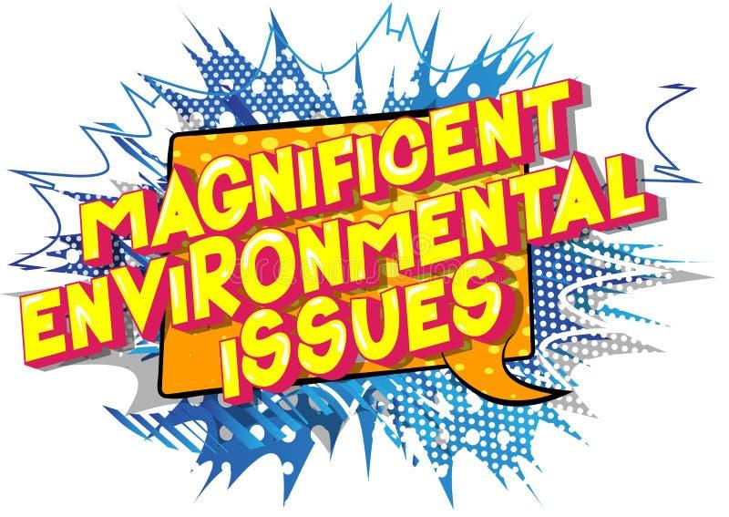壮观的环境问题-漫画样式词 皇族释放例证