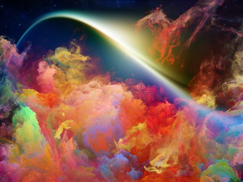 壮观的空间星云 免版税库存照片