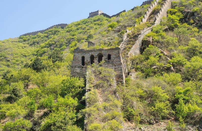 壮观的长城,著名旅游胜地,北京,中国 免版税库存照片