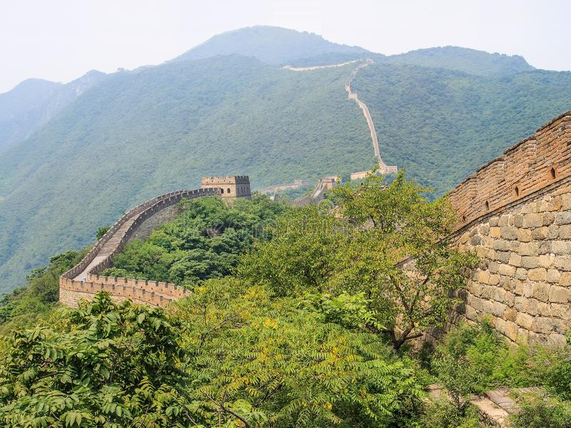 壮观的长城,著名旅游胜地,北京,中国 库存照片