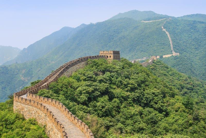 壮观的长城,著名旅游胜地,北京,中国 图库摄影