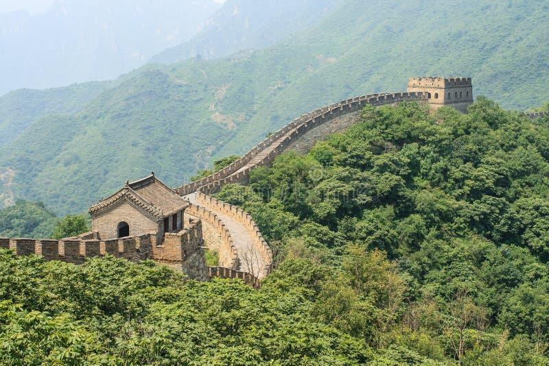 壮观的长城,著名旅游胜地,北京,中国 免版税图库摄影