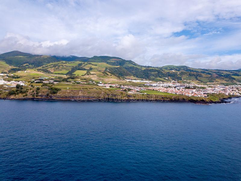 壮观的Na梵语海岸美好的鸟瞰图  免版税图库摄影