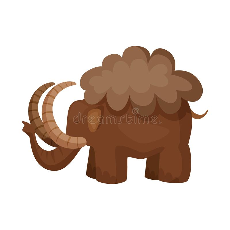 声势浩大和动物商标被隔绝的对象  庞然大物和史前史股票简名的汇集网的 库存例证