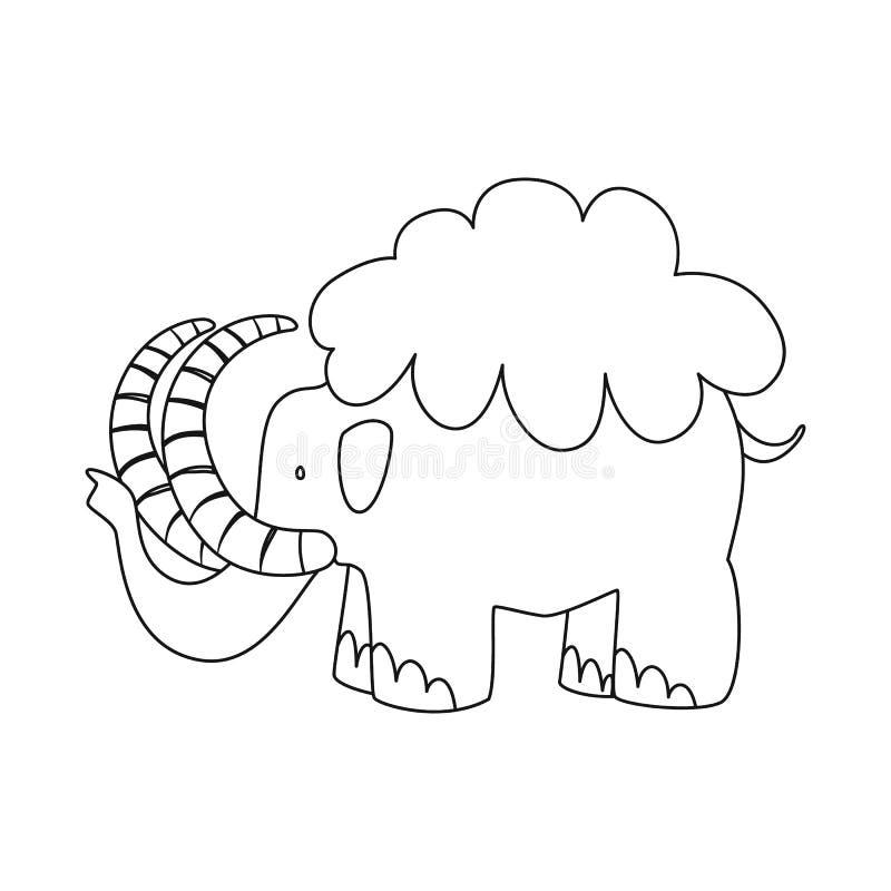 声势浩大和动物标志传染媒介设计  设置庞然大物和史前史股票简名网的 库存例证