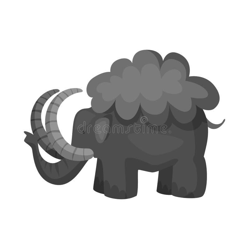 声势浩大和动物标志的传染媒介例证 设置庞然大物和史前史传染媒介象股票的 皇族释放例证