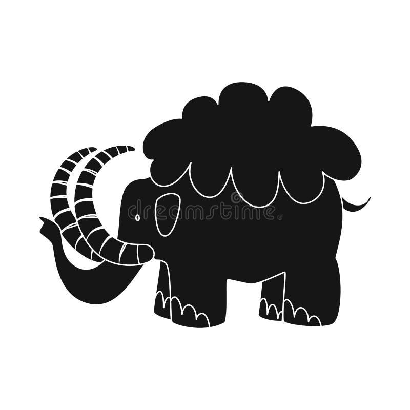 声势浩大和动物象被隔绝的对象  庞然大物的汇集和史前史股票的传染媒介象 库存例证