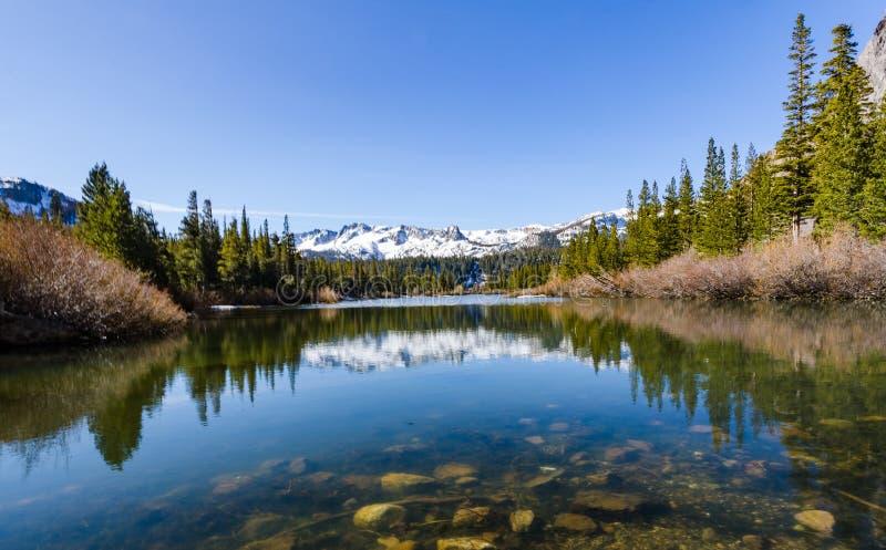 声势浩大的湖,加利福尼亚 图库摄影
