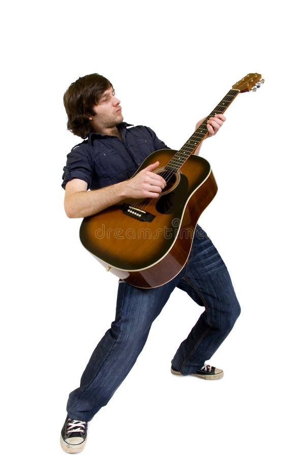 声学吉他他人使用 库存照片
