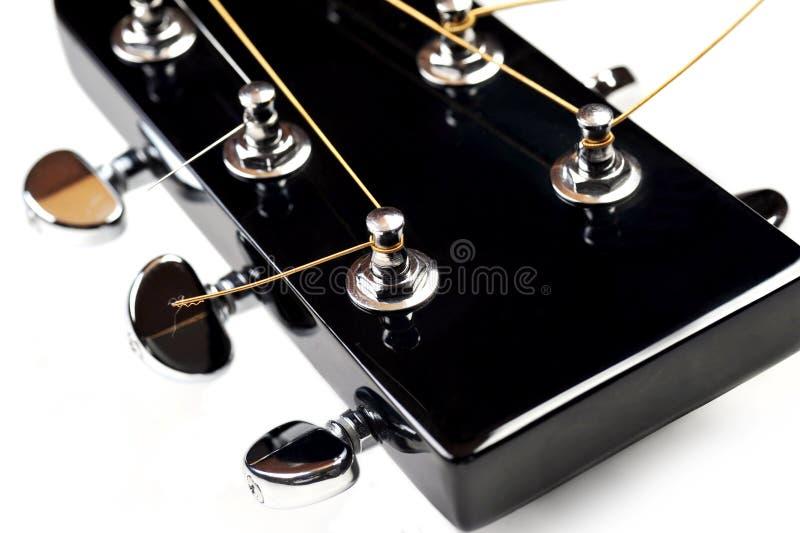 声学吉他床头柜 库存照片