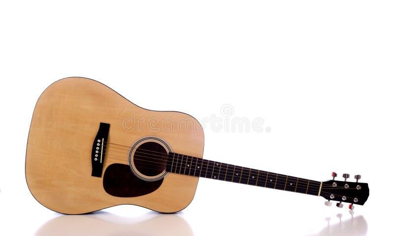 声学吉他白色 库存图片
