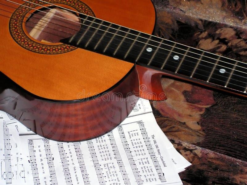声学吉他附注 库存图片