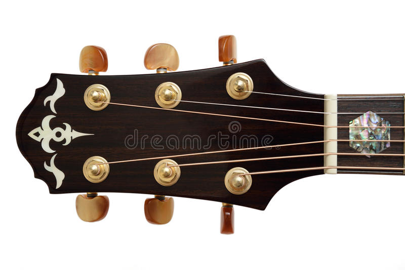 声学吉他题头 免版税库存照片