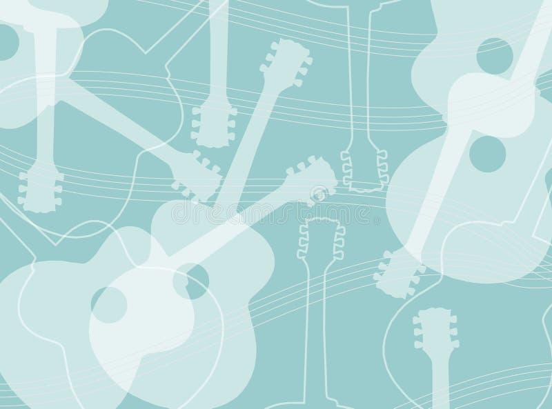 声学吉他样式 向量例证