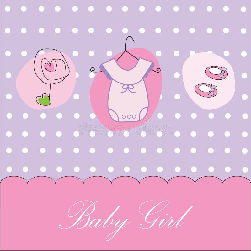 声明女婴 向量例证