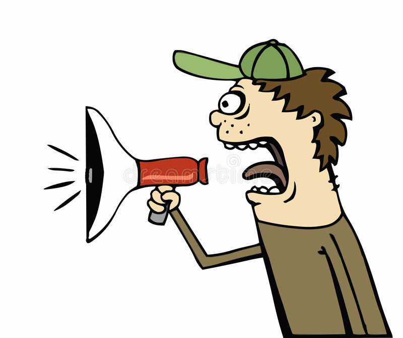 声明手提式扬声机 向量例证