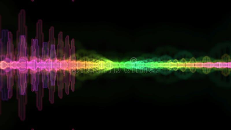 声波光谱 向量例证