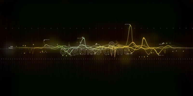 声波现代艺术 向量例证