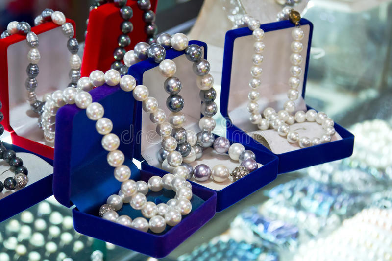 壳珍珠小珠 免版税库存图片