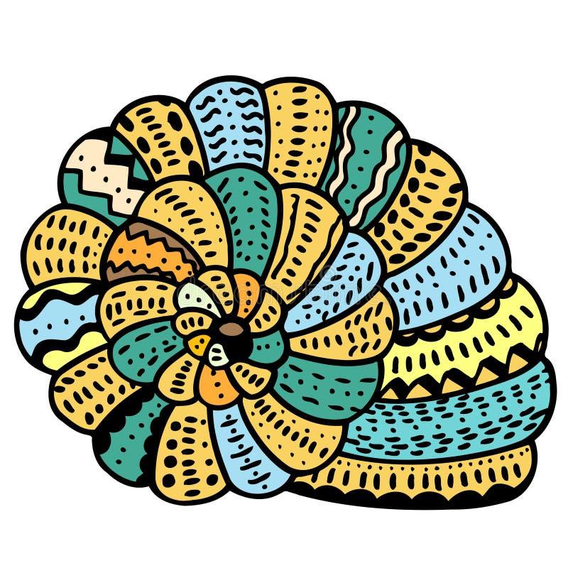 贝壳线艺术 库存例证