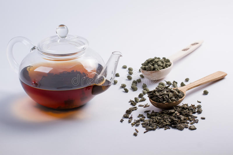 水壶用茶 免版税库存照片