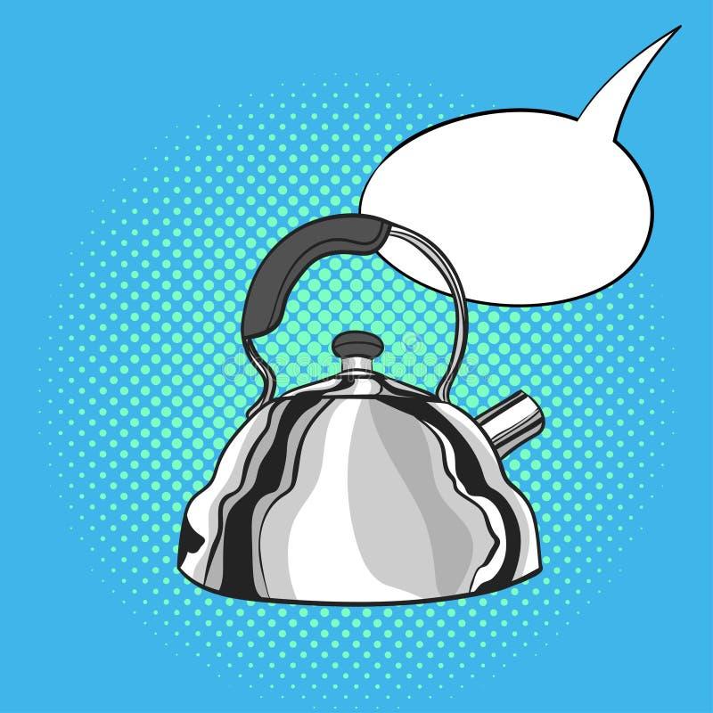 水壶的传染媒介手拉的流行艺术例证 向量例证