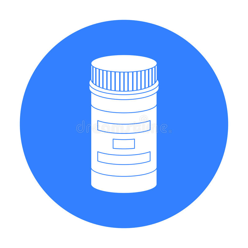 处方在白色背景在黑样式的瓶象隔绝的 使标志储蓄传染媒介例证服麻醉剂 皇族释放例证