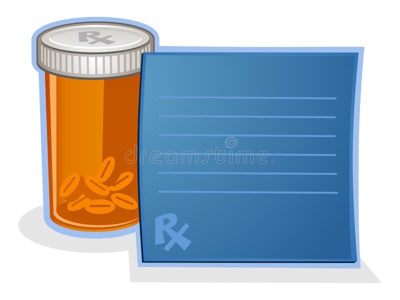 处方药药瓶动画片 库存例证