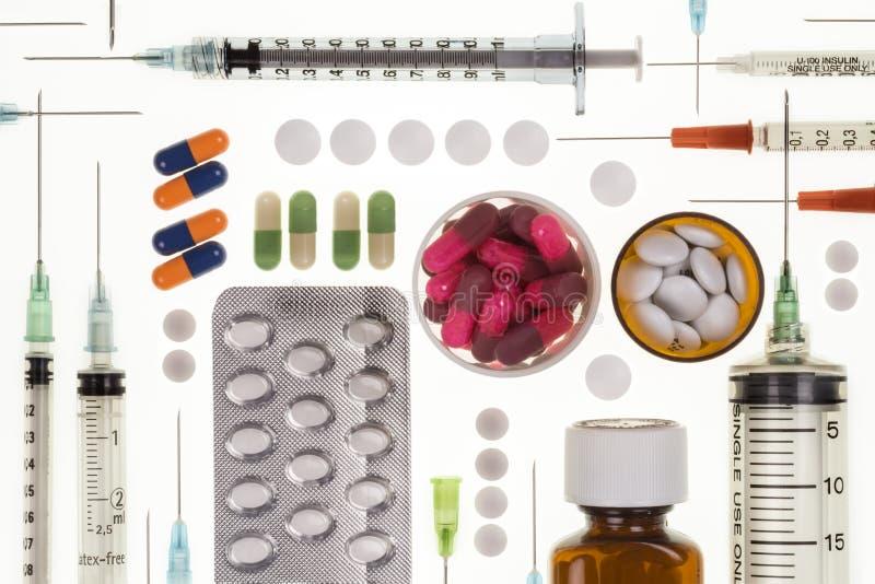 处方药-注射器-药物治疗 库存图片