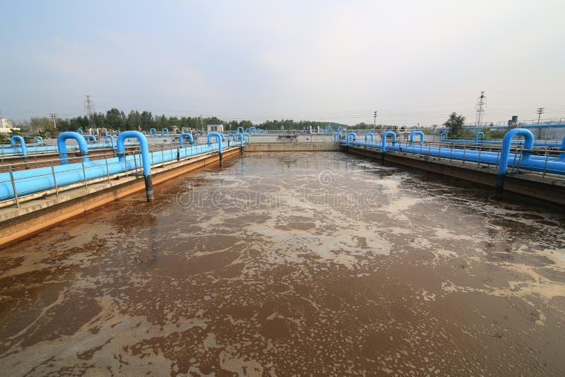 水处理厂-水处理厂 免版税库存照片