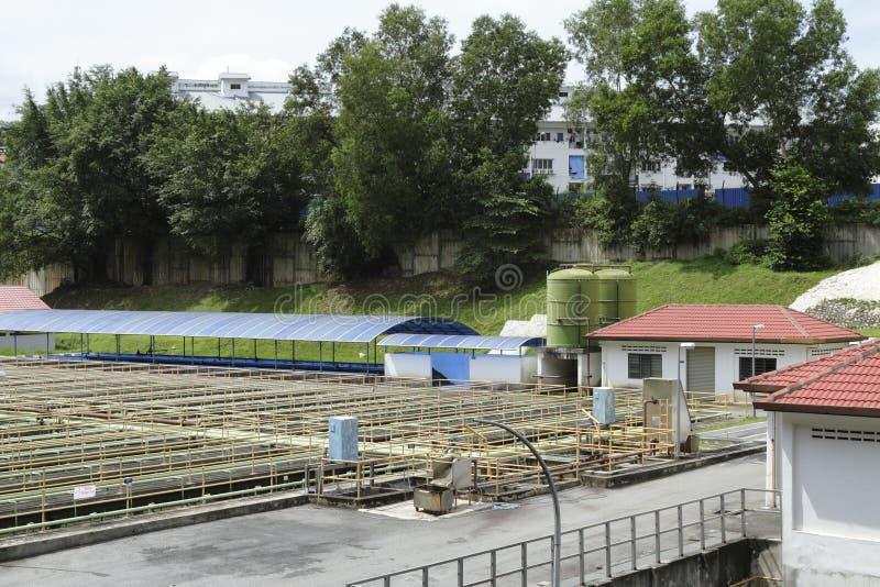 处理污水的工厂 库存照片