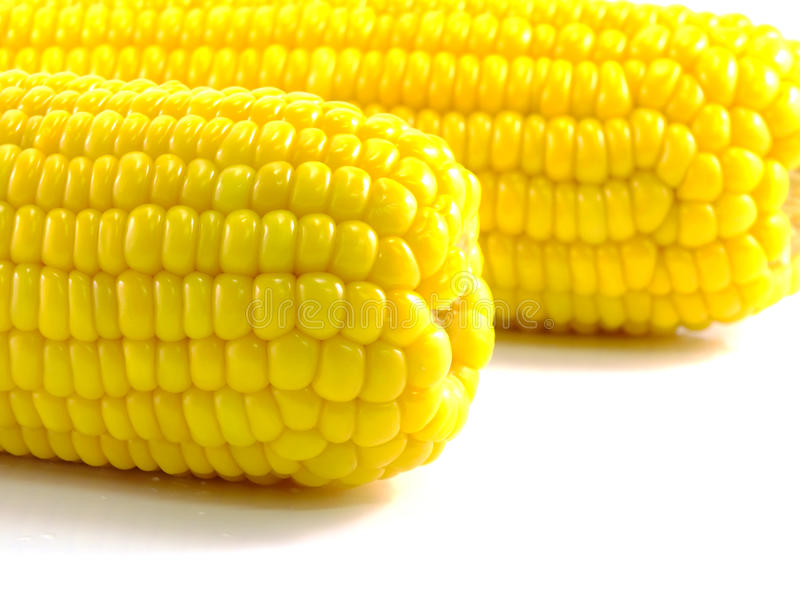 处理甜点的暴力行为的玉米行业 免版税库存照片