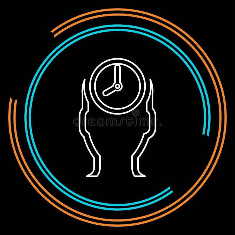 处理的时间象,传染媒介时间管理 向量例证