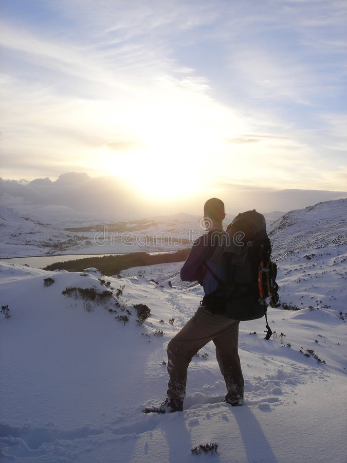 处理的雪风暴 免版税库存图片