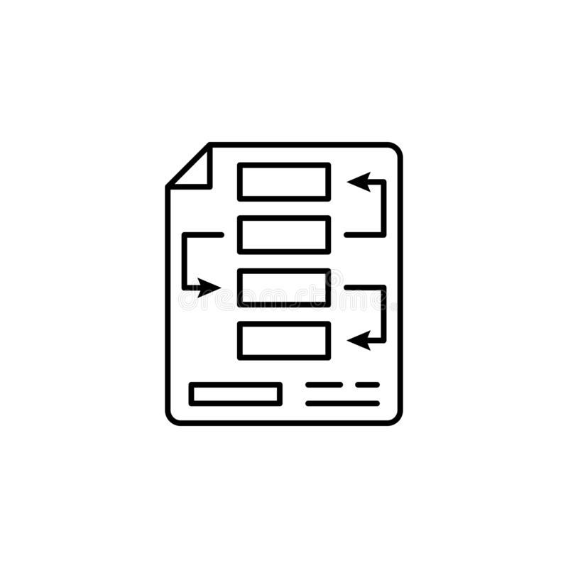 处理财务图概述象 财务例证象的元素 标志,标志可以为网,商标,流动应用程序,UI使用 库存例证
