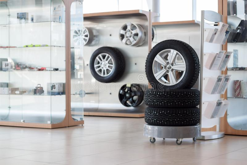 备件和辅助部件各种各样的车的 免版税库存图片