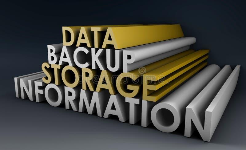 备份数据 库存例证