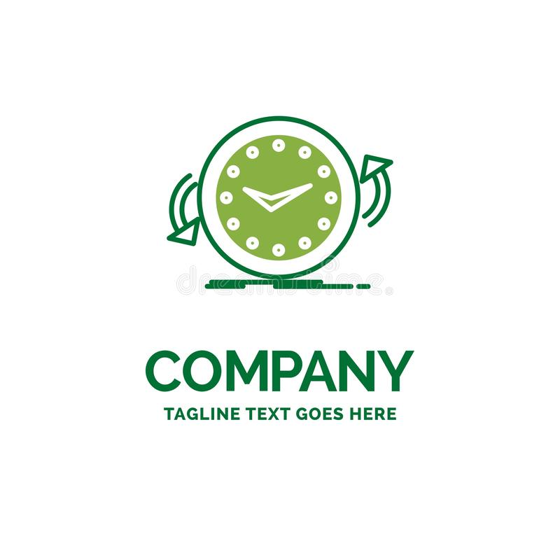 备份,时钟,顺时针,逆,时间平的企业商标templ 库存例证