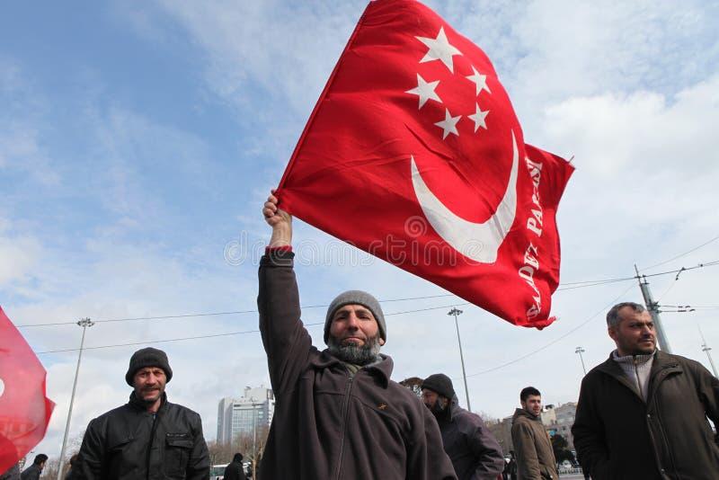 备忘录军人抗议 免版税图库摄影